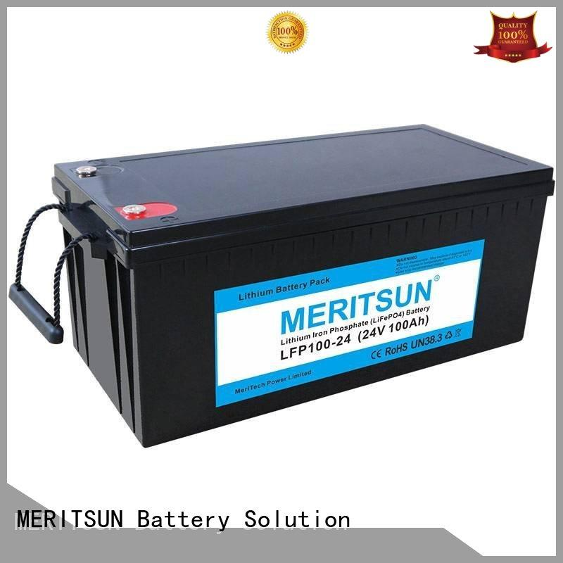 MERITSUN rechargeable lifepo4 battery manufacturers supplier for building
